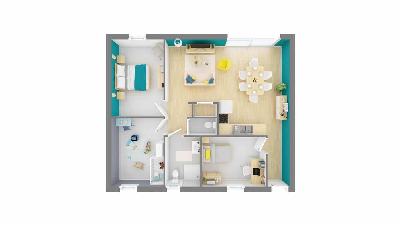 Plan Maison Challandaise Maisons Privat
