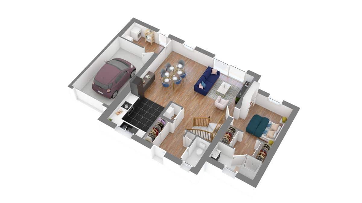 Coueronnaise_maison traditionnelle à étage_T4_GA-g0-axo_rdc