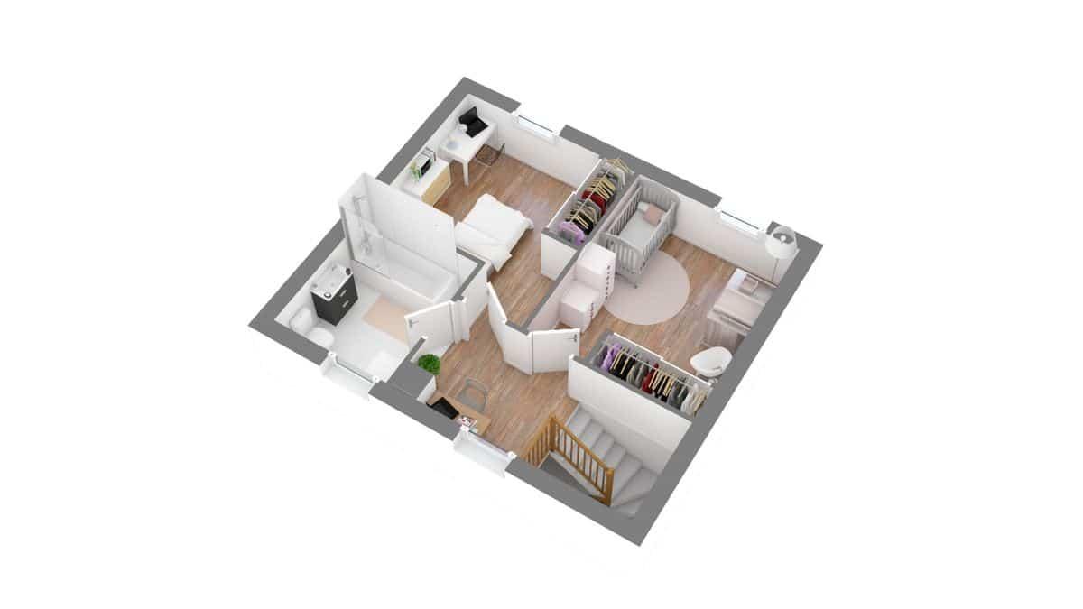 Coueronnaise_maison traditionnelle à étage_T4_GA-g1-axo_etage