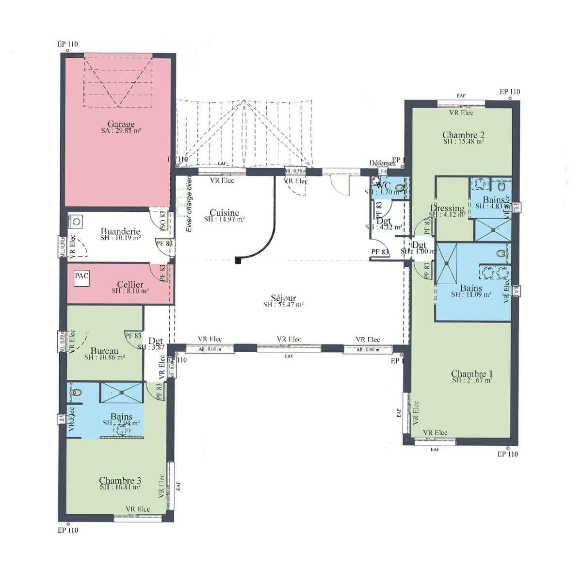 Plan Maison Esthetium Maisons Privat