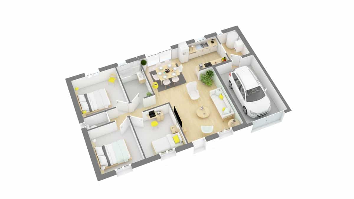 Maisons Privat_paluaise_110-g0-axo_rdc