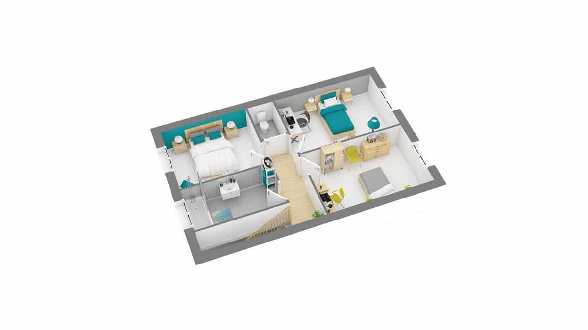 Modele Maisons Privat -chevroliere_96_etg
