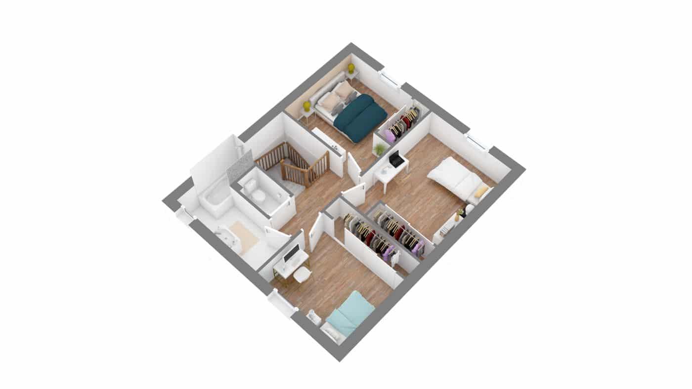 SORINiere etage -axo_etage