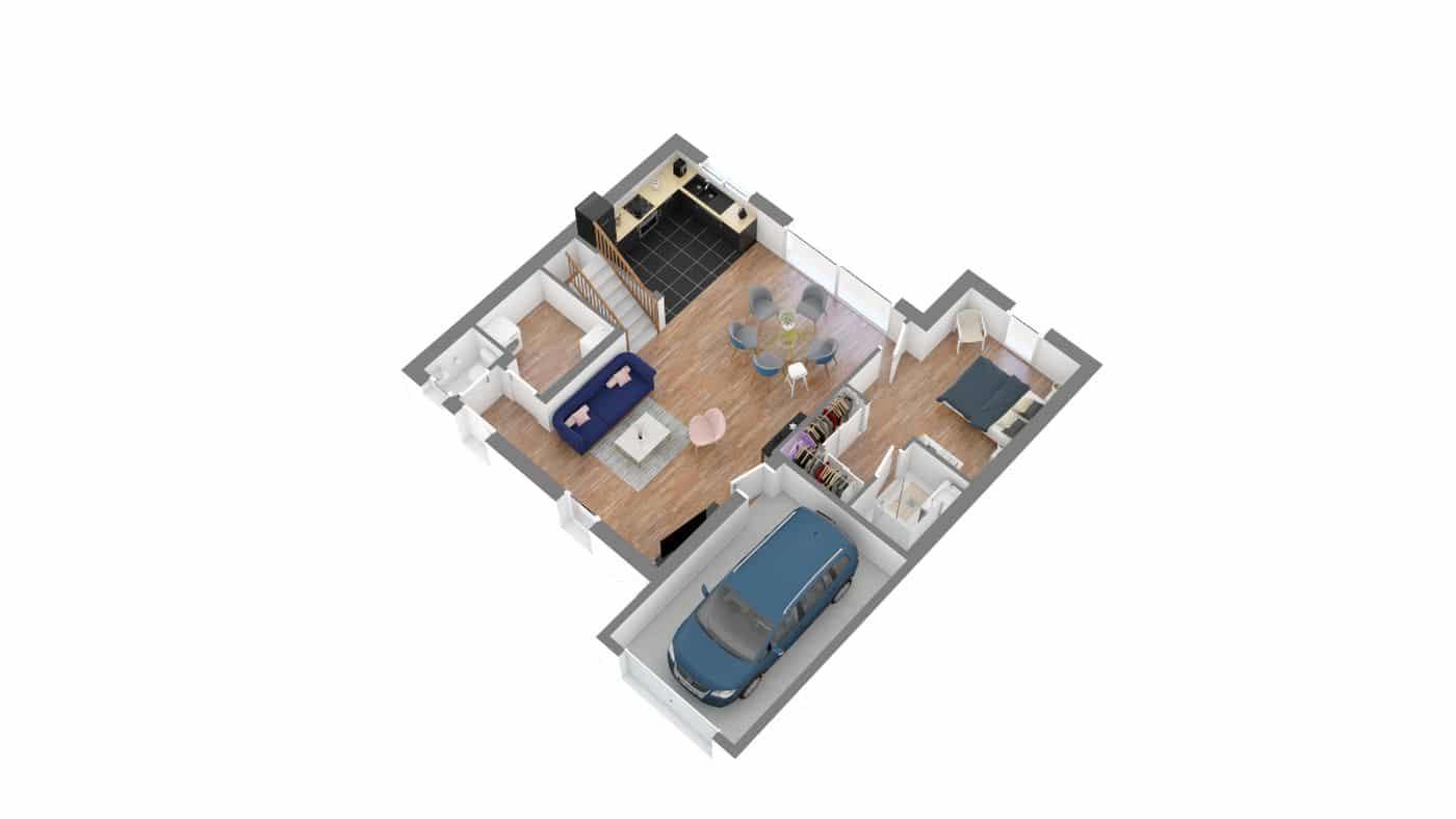SORINiere etage -axo_rdc